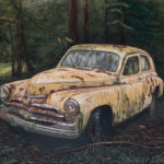 Old Car (GAZ-M20 Pobeda), oil painting by Edith van Duin-Schermer, 2017