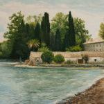 Farmhouse by the Sea, oil painting by Edith van Duin-Schermer, 2009