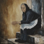 Greek Woman from Corfu, oil painting by Edith van Duin-Schermer, 2009