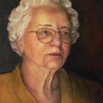 Portrait of my Grandmother, oil painting by Edith van Duin-Schermer, 2000