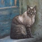 The Cat, oil painting by Edith van Duin-Schermer, 2013