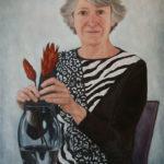Portrait of my Mother, oil painting by Edith van Duin-Schermer, 2011